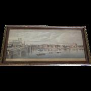 Lithograph of The Thames River- circa 1890