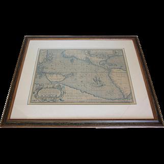 "Vintage Framed ""Maris Pacifici""-Circa 1589"