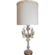 Murano Glass Gold Acanthus Leaf Lamp by Marbro