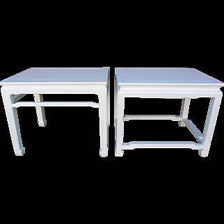 Pair of Refurbished Vintage Pagoda Style Henredon End Tables