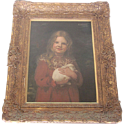 Portrait of a Girl and Her Rabbit by William Walls