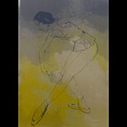 Jean Jansem Ballet Watercolor Framed Lithograph 33/120