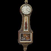 "Presentation ""Aurora""  Banjo Clock-circa 1825 (Aaron Willard Signature)"