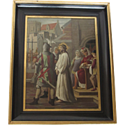 16th Century Style Continental School Religious Oil on Tin
