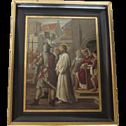 16th Century Style Continental School Religious Oil on Tin