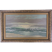 "Signed Original Seascape by Robert Weeks-""Ocean Swell"""