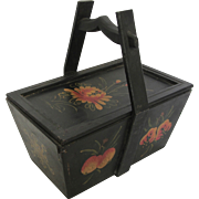 Antique Hand Painted Qing Dynasty Grocery Basket