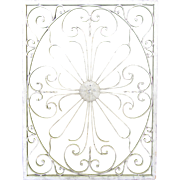 Vintage Painted Iron Scroll Wall Panel