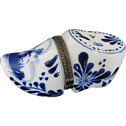 Delft Clog Limoge Style Pill Box