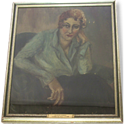 Antique Portrait of 1920's Woman-Sara Locke