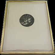 """""""Les Rêveurs"""" Vintage Engraving by Phillipe Mohlitz 1941"""