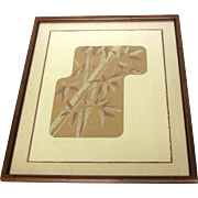 """Autumn Bamboo"" Limited Edition Signed Serigraph with Embossing by Ken Nelson"