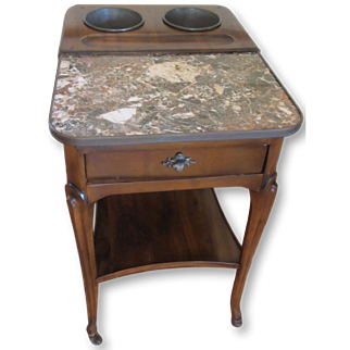 De Bournay Champagne Table with Marble Top