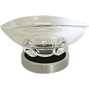 Steuben Crystal Bowl on Stand- by Donald Pollard