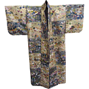 Exquisite Vintage Silk Embroidered Japanese Wedding Kimono