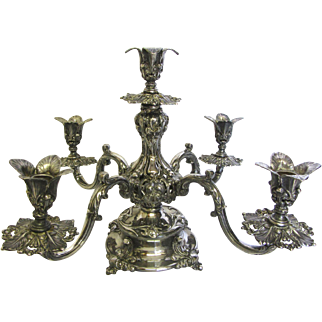 Reed & Barton Silver Plate (166) Epergne Candelabra