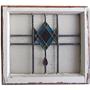 Antique Stain Glass Window Frame