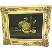 Lemon Still Life Original Oil by Hansen