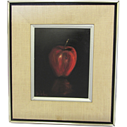 """Red Apple"" Still Life Original Oil Painting by Jon Helland"