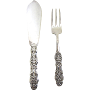 CG Hallbergs Fish Knife and Fork Set- Sweden