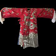 Vintage Silk Chinese Emperor Opera Kimono
