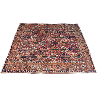 """Old Hand Knotted Persian Bakhtiar Rug- 11'9"""" x 14'4"""""""