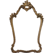 """Vintage Italian Gold Hand Carved Mirror 43"""" Tall"""