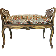19th Century French Louis XV Carved Piano Bench