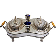 Rare Crown Silverplate Chafing Buffet Service