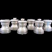 3 sets of Vintage Raimond Italian Pewter Salt and Pepper Shakers