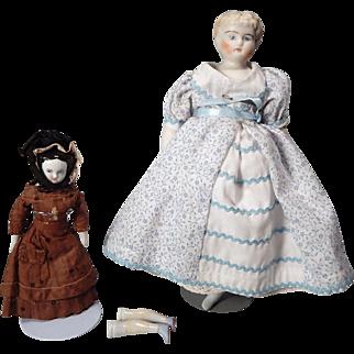 Two cute China Head dolls