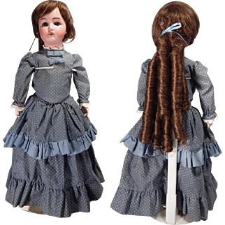 Pretty Mystery German Bisque doll on Composition body