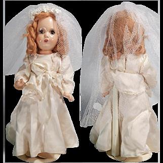Darling 1940's Composition Bride doll