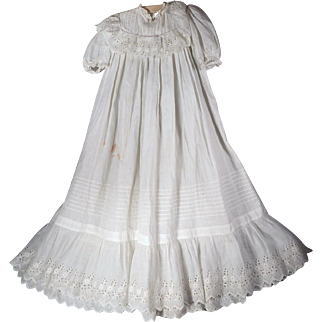 Sweet Antique Christening gown for a medium to large doll.