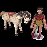 Wonderful set of Schoenhut Circus figures
