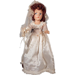 "Cute 12"" Composition Bride doll"