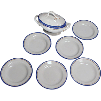 Cute 13 piece china set for your dolls