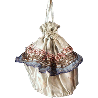 Cute Vintage Draw-string Purse for your Larger Doll