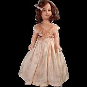 "Great 20"" Ideal Deanna Durbin Doll.  Original dress and shoes."