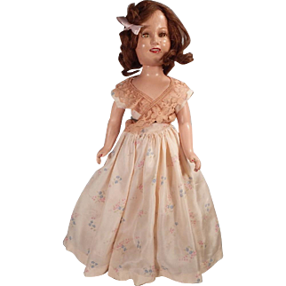 "Great 20"" Ideal Deanna Durbin Doll.  Original dress and shoes."