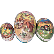 Three very nice Vintage Easter Eggs for your doll