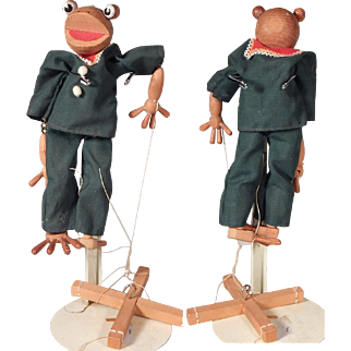 Cute Handmade Frog Marionette