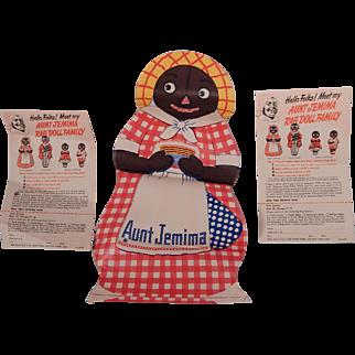 Darling Aunt Jemima Rag Doll never put together!