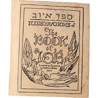 Neat Miniature book Book of Job by William Blake