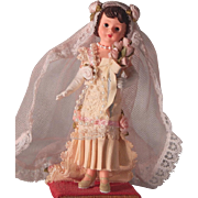 Pretty limited edition Madame Alexander figuring of a Bride.  1999