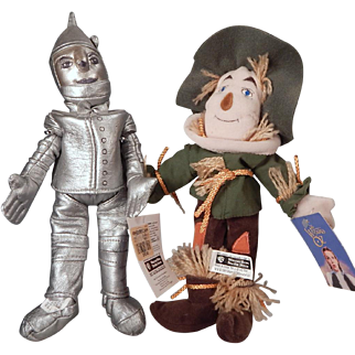 Cute cloth Scarecrow and Tin Man from Oz