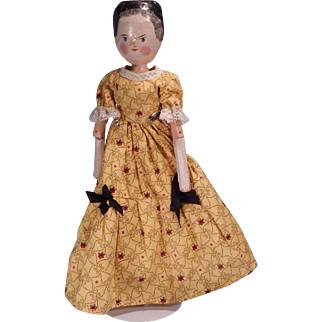 Another Cute Vintage Peg Wooden Doll