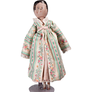 "Cute vintage 11"" Peg wooden doll"