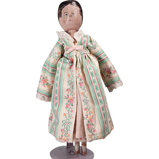 "Cute vintage 11"" Peg wooden doll"
