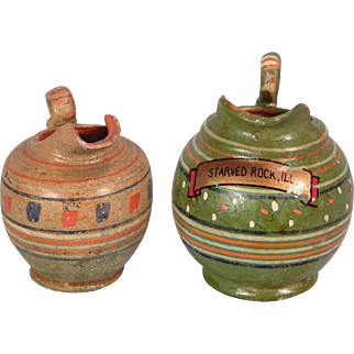 Two cute Miniature Made in Mexico Pitchers